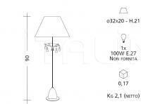 Настольный светильник 896 Patrizia Garganti (Baga)