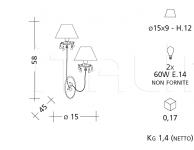 Настенный светильник 889 Patrizia Garganti (Baga)