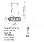 Подвесной светильник Cannettata / S De Majo Illuminazione