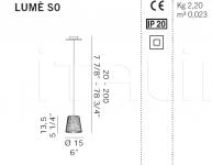 Подвесной светильник  LUME S0 De Majo Illuminazione