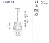 Подвесной светильник LUME S1 De Majo Illuminazione