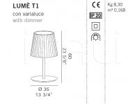 Настольный светильник LUME T1 De Majo Illuminazione