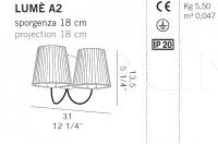 Настенный светильник LUME  A1/A2 De Majo Illuminazione