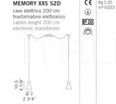 Подвесной светильник MEMORY XXS S De Majo Illuminazione