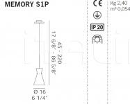 Подвесной светильник MEMORY S1P De Majo Illuminazione