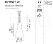 Подвесной светильник MEMORY XXL De Majo Illuminazione
