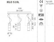 Подвесной светильник XILO S10L De Majo Illuminazione