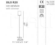Торшер XILO R20 De Majo Illuminazione