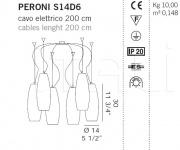 Подвесной светильник PERONI S14D6 De Majo Illuminazione