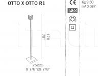 Торшер OTTO X OTTO R1 De Majo Illuminazione
