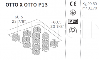Потолочный светильник OTTO X OTTO P13 De Majo Illuminazione