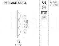 Настенный светильник PERLAGE A3/P3 De Majo Illuminazione