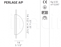 Настенный светильник PERLAGE A/P De Majo Illuminazione