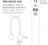 Подвесной светильник PRO-SECCO S2D De Majo Illuminazione