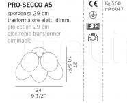 Настенный светильник PRO-SECCO A5 De Majo Illuminazione
