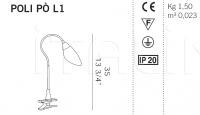 Настольный светильник POLI PO L1 De Majo Illuminazione