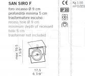 Потолочный светильник SAN SIRO F De Majo Illuminazione