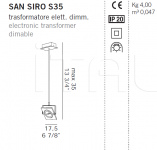 Подвесной светильник SAN SIRO S35/S55/S75 De Majo Illuminazione