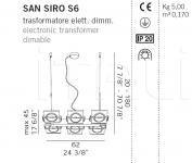 Подвесной светильник SAN SIRO S6 De Majo Illuminazione