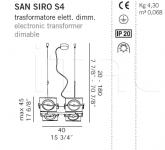 Подвесной светильник SAN SIRO S4 De Majo Illuminazione