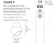 Потолочный светильник COUPE F De Majo Illuminazione