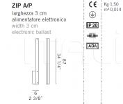 Настенный светильник ZIP A/P De Majo Illuminazione