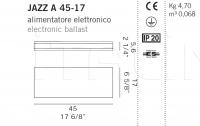 Настенный светильник JAZZ A 45-17 De Majo Illuminazione