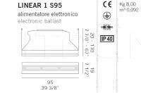 Подвесной светильник LINEAR 1 S95 De Majo Illuminazione