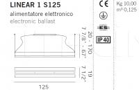 Подвесной светильник LINEAR 1 S125 De Majo Illuminazione