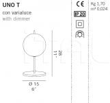 Настольный светильник UNO T De Majo Illuminazione