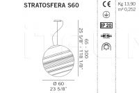 Подвесной светильник STRATOSFERA S60 De Majo Illuminazione