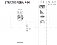 Торшер STRATOSFERA R40 De Majo Illuminazione