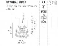 Люстра NATURAL KP24 De Majo Illuminazione
