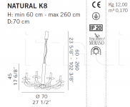 Подвесной светильник NATURAL K8 De Majo Illuminazione