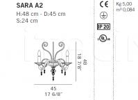 Настенный светильник SARA A2 De Majo Illuminazione