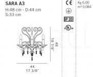 Настенный светильник SARA A3 De Majo Illuminazione