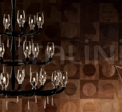 Люстра FLUTE K12+8+6 фабрика De Majo Illuminazione