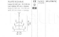 Люстра FLUTE K12+8+6 De Majo Illuminazione