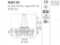 Люстра 8080 K9 De Majo Illuminazione