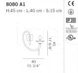 Настенный светильник 8080 A1 De Majo Illuminazione