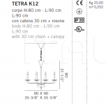 Люстра TETRA K12 De Majo Illuminazione