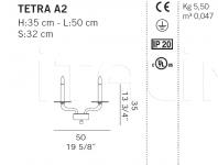 Настенный светильник TETRA A2 De Majo Illuminazione