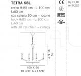 Подвесной светильник TETRA K8L De Majo Illuminazione