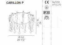 Подвесной светильник CARILLON P De Majo Illuminazione