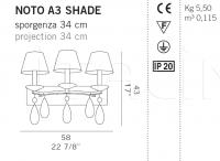 Настенный светильник NOTO A3 SHADE De Majo Illuminazione