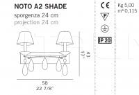 Настенный светильник NOTO A2 SHADE De Majo Illuminazione