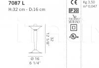 Настольный светильник 7087 L De Majo Illuminazione