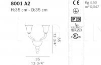 Настенный светильник 8001 A De Majo Illuminazione