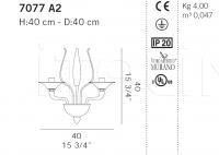 Настенный светильник 7077 A2 De Majo Illuminazione
