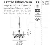 Люстра L'ESTRO ARMONICO K8 De Majo Illuminazione
